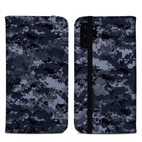 Digital Navy Camo Samsung Galaxy Note 10 Plus Folio Case