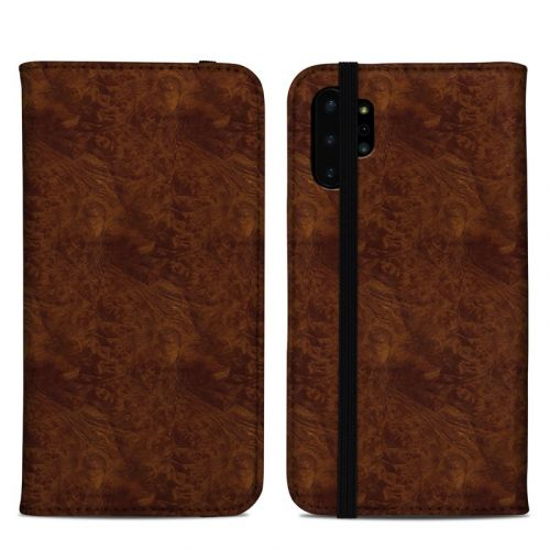 Dark Burlwood Samsung Galaxy Note 10 Plus Folio Case