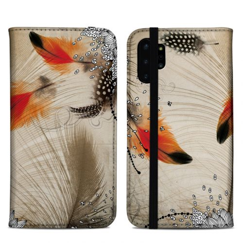 Feather Dance Samsung Galaxy Note 10 Plus Folio Case