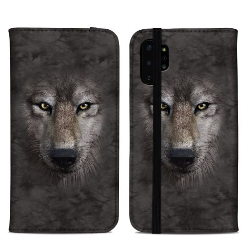 Grey Wolf Samsung Galaxy Note 10 Plus Folio Case