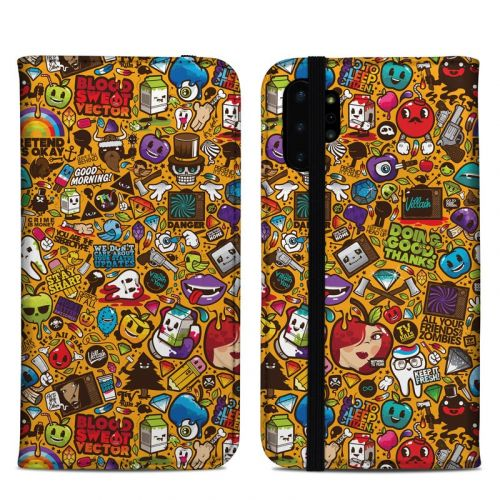 Psychedelic Samsung Galaxy Note 10 Plus Folio Case