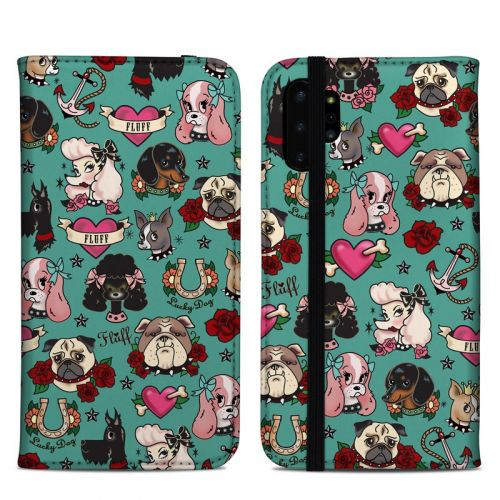 Tattoo Dogs Samsung Galaxy Note 10 Plus Folio Case