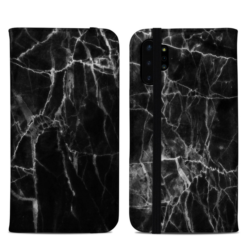 Samsung Galaxy Note 10 Plus Folio Case design of Black, White, Nature, Black-and-white, Monochrome photography, Branch, Atmosphere, Atmospheric phenomenon, Tree, Sky with black, white colors