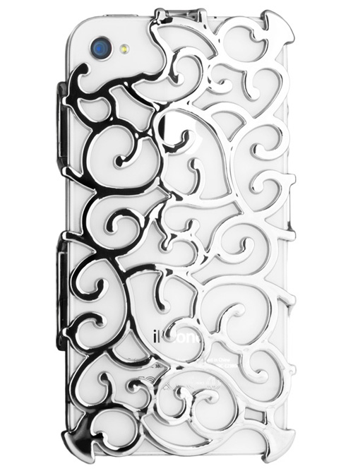 Silver Art Nouveau iPhone 4S Case