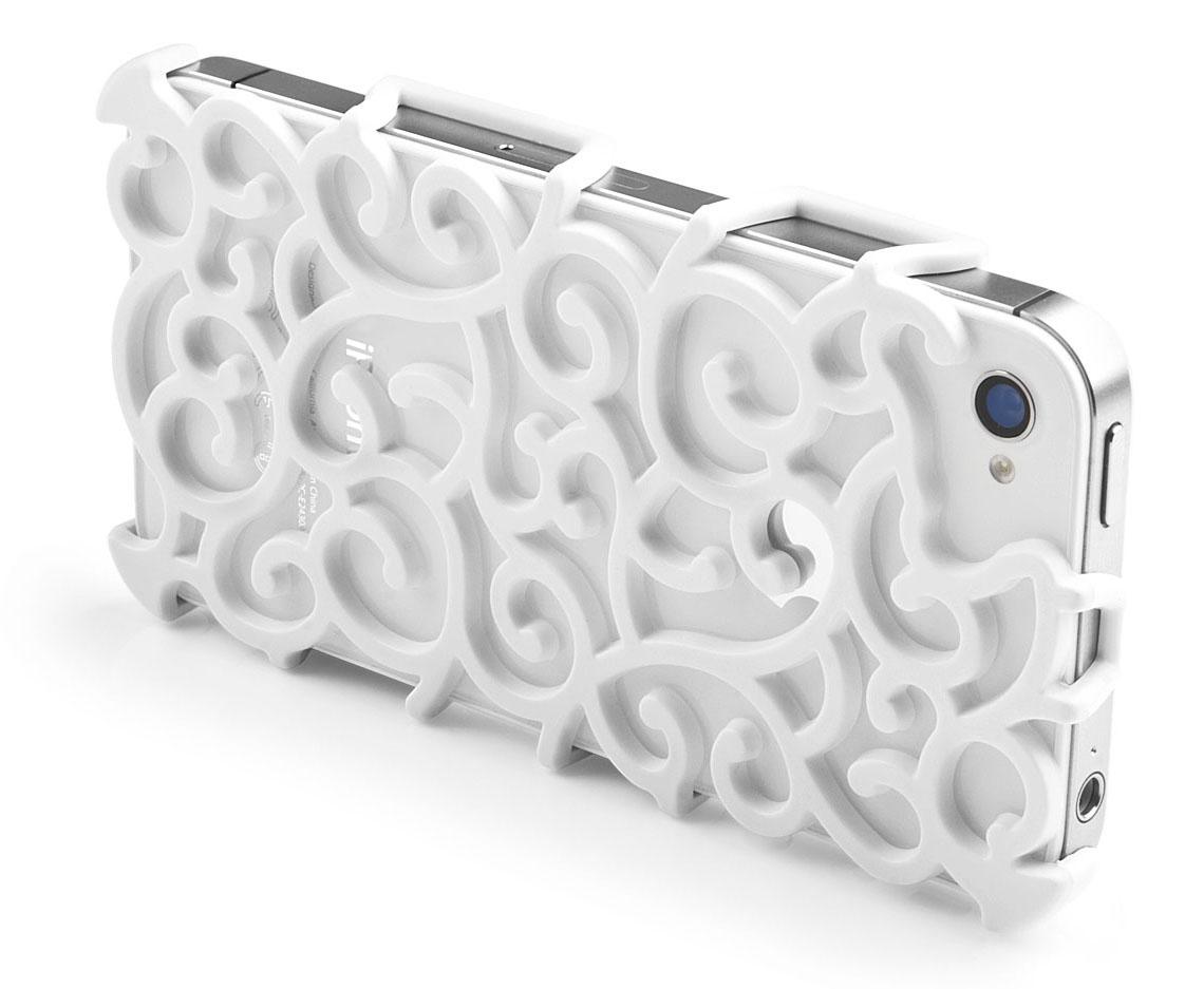 Matte White Art Nouveau iPhone 4S Case