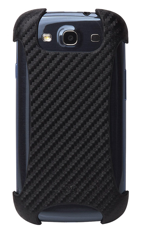 Black CarbonGrip Galaxy S III Case