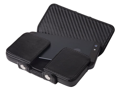 Carbon Fiber iPhone 5 Leather Pouch