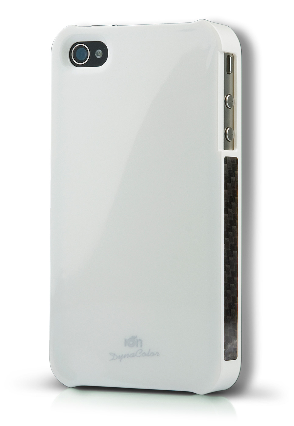 White DynaColor Lacquer iPhone 4S Case