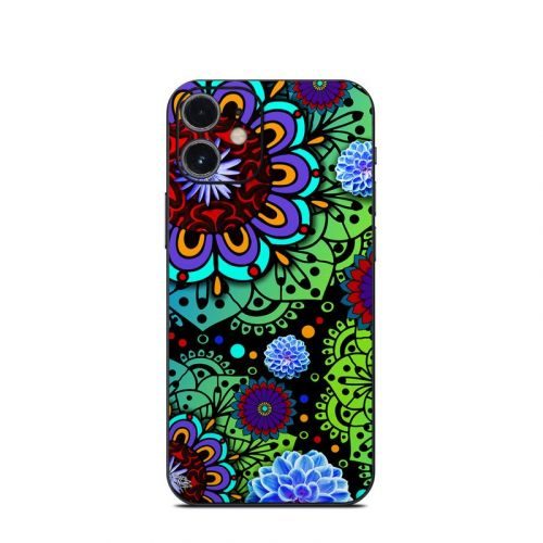 Funky Floratopia iPhone 12 mini Skin