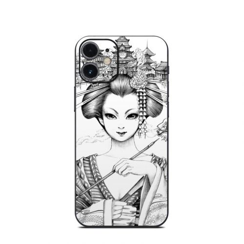 Geisha Sketch iPhone 12 mini Skin