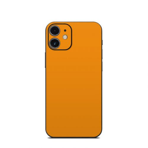Solid State Orange iPhone 12 mini Skin