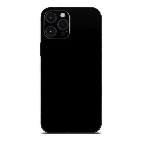 Solid State Black iPhone 12 Pro Max Skin