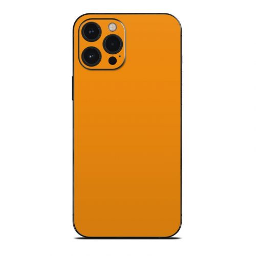 Solid State Orange iPhone 12 Pro Max Skin