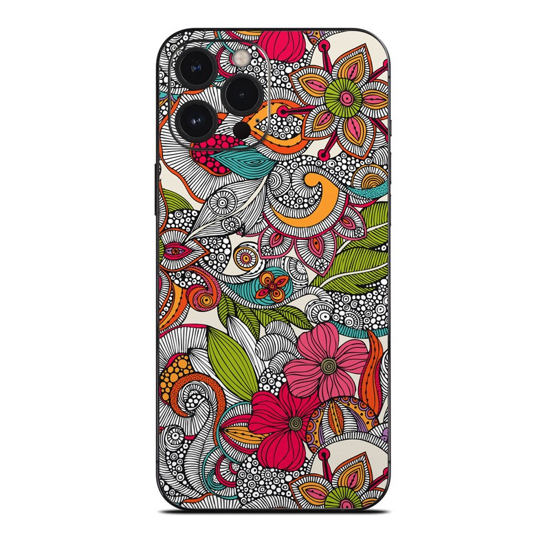 iPhone 12 Pro Max Skin design of Pattern, Drawing, Visual arts, Art, Design, Doodle, Floral design, Motif, Illustration, Textile with gray, red, black, green, purple, blue colors