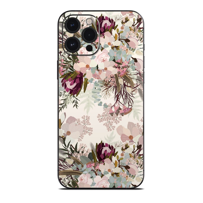 iPhone 12 Pro Max Skin design of Pink, Pattern, Lilac, Flower, Plant, Petal, Floral design, Textile, Design, Blossom with white, red, pink, blue, brown colors