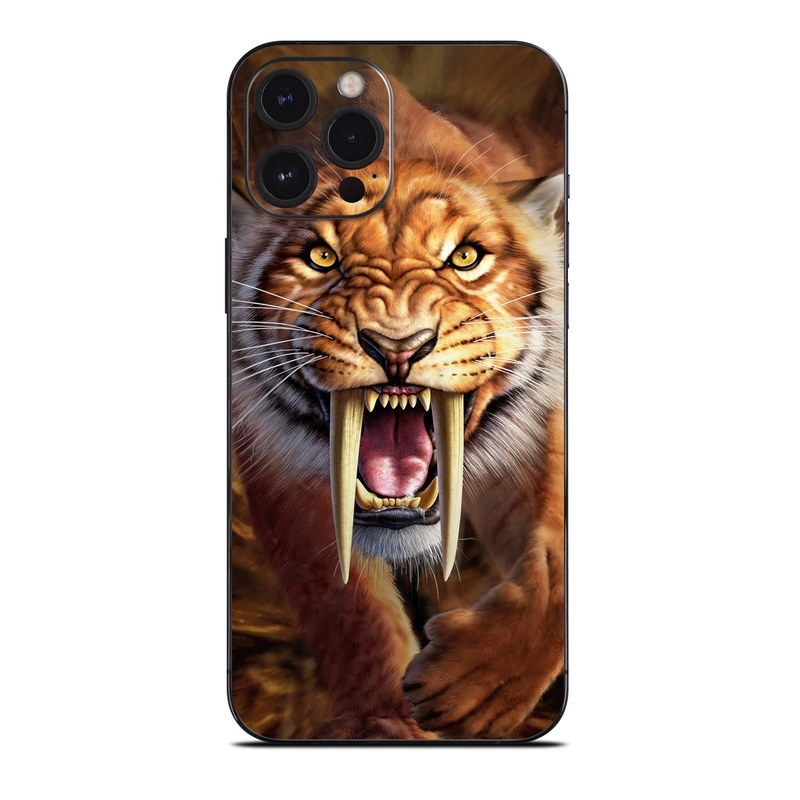 iPhone 12 Pro Max Skin design of Roar, Felidae, Facial expression, Wildlife, Whiskers, Bengal tiger, Carnivore, Snout, Big cats, Fang with black, orange, yellow, white colors