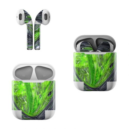 Emerald Abstract Apple AirPods Skin