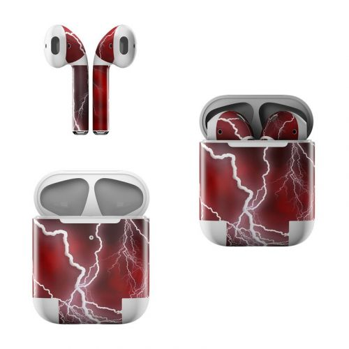 Apocalypse Red Apple AirPods Skin