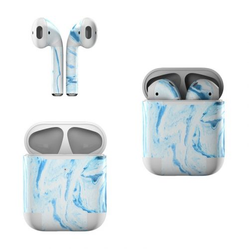 Azul Marble Apple AirPods Skin
