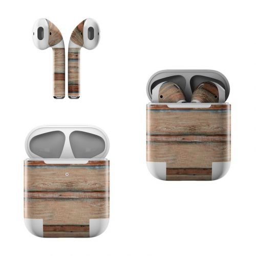 Boardwalk Wood Apple AirPods Skin