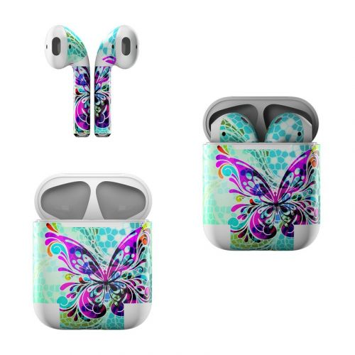 Butterfly Glass Apple AirPods Skin