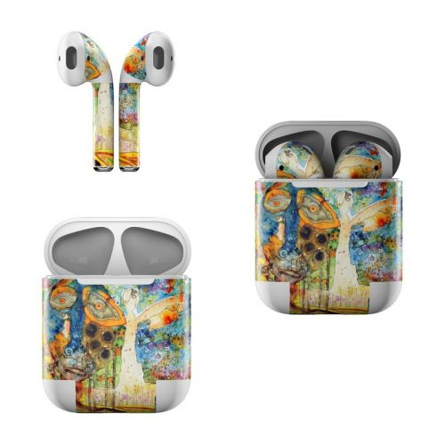 Blue Hello Apple AirPods Skin