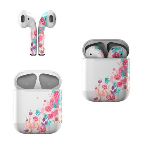 Blush Blossoms Apple AirPods Skin