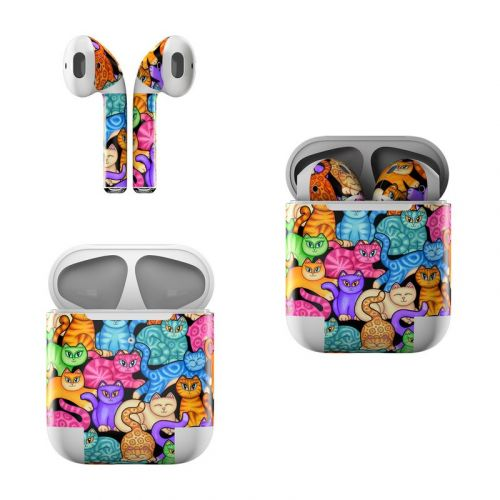 Colorful Kittens Apple AirPods Skin