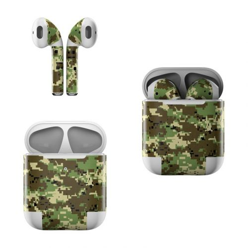 Digital Woodland Camo Apple AirPods Skin