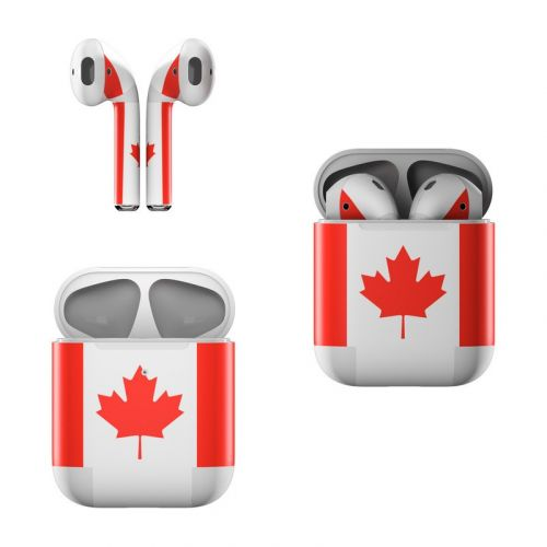 Canadian Flag Apple AirPods Skin