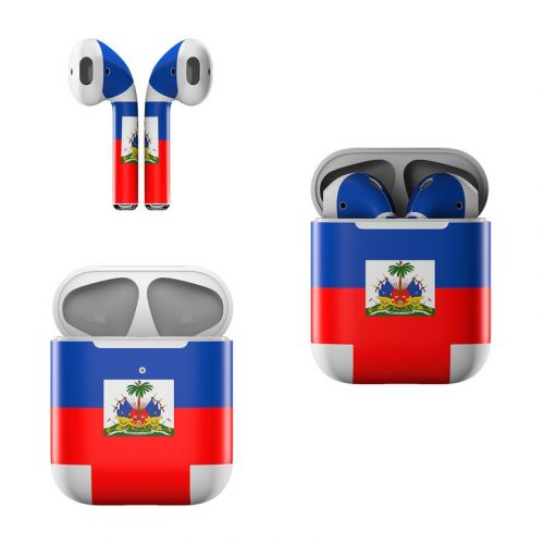 Haiti Flag Apple AirPods Skin