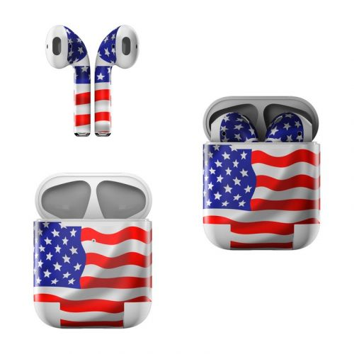USA Flag Apple AirPods Skin