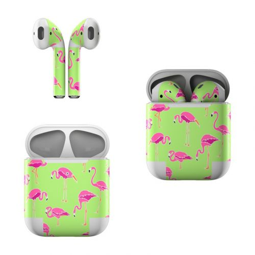 Flamingo Day Apple AirPods Skin