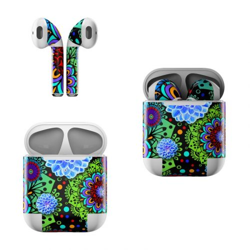 Funky Floratopia Apple AirPods Skin