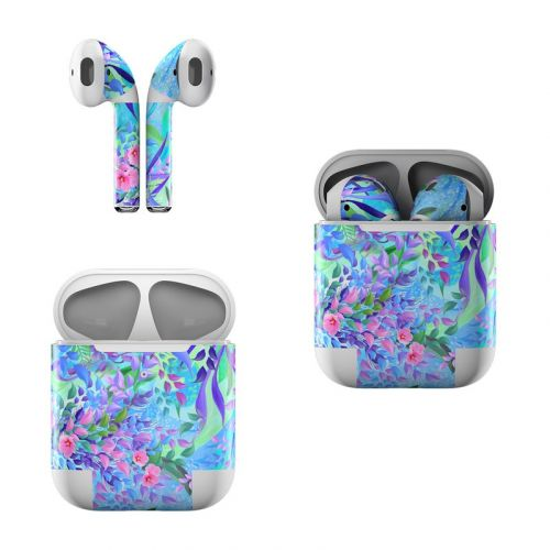 Lavender Flowers Apple AirPods Skin