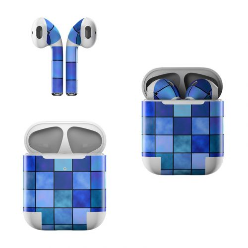 Blue Mosaic Apple AirPods Skin