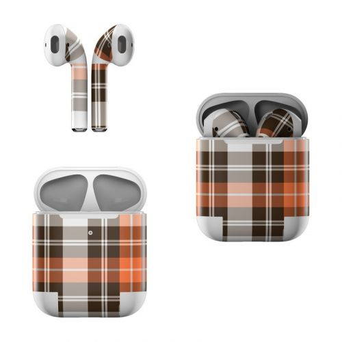 Copper Plaid Apple AirPods Skin