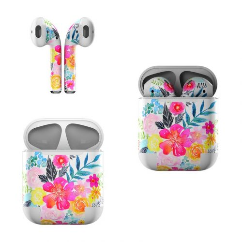 Pink Bouquet Apple AirPods Skin