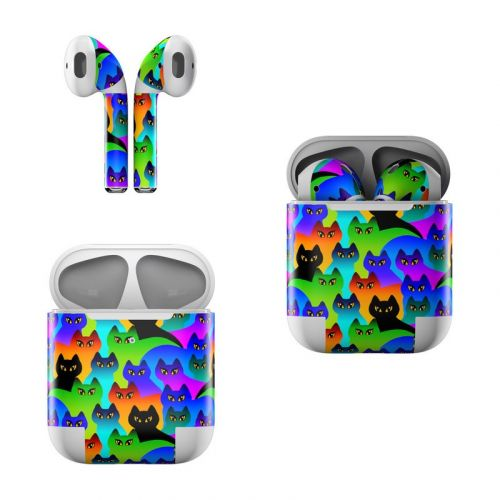Rainbow Cats Apple AirPods Skin