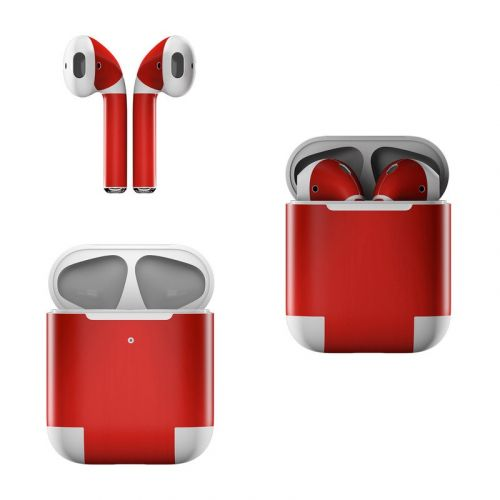 Red Burst Apple AirPods Skin