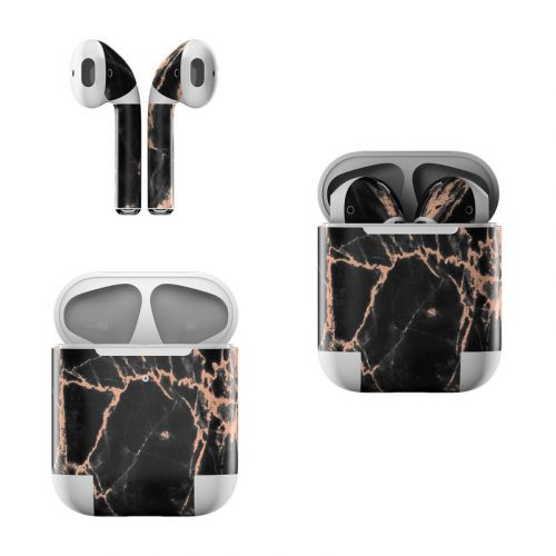 Rose Quartz Marble Apple AirPods Skin