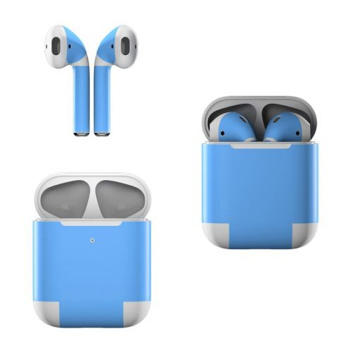 Solid State Blue Apple AirPods Skin