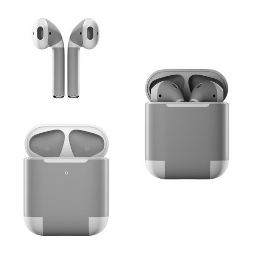 Solid State Grey Apple AirPods Skin