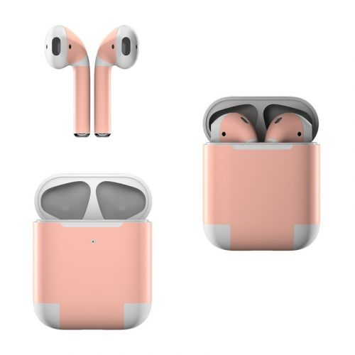 Solid State Peach Apple AirPods Skin