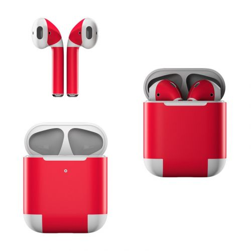 Solid State Red Apple AirPods Skin