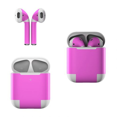 Solid State Vibrant Pink Apple AirPods Skin