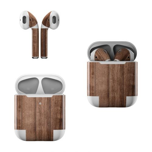 Stained Wood Apple AirPods Skin