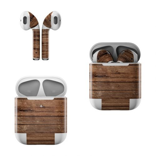 Stripped Wood Apple AirPods Skin