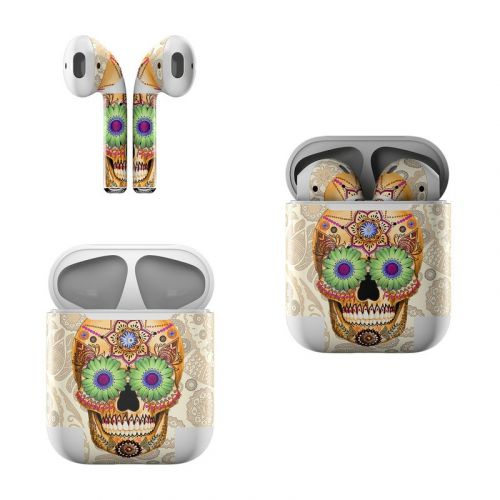 Sugar Skull Bone Apple AirPods Skin