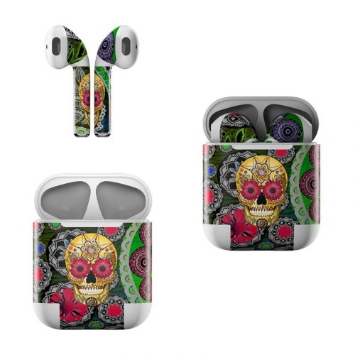 Sugar Skull Paisley Apple AirPods Skin